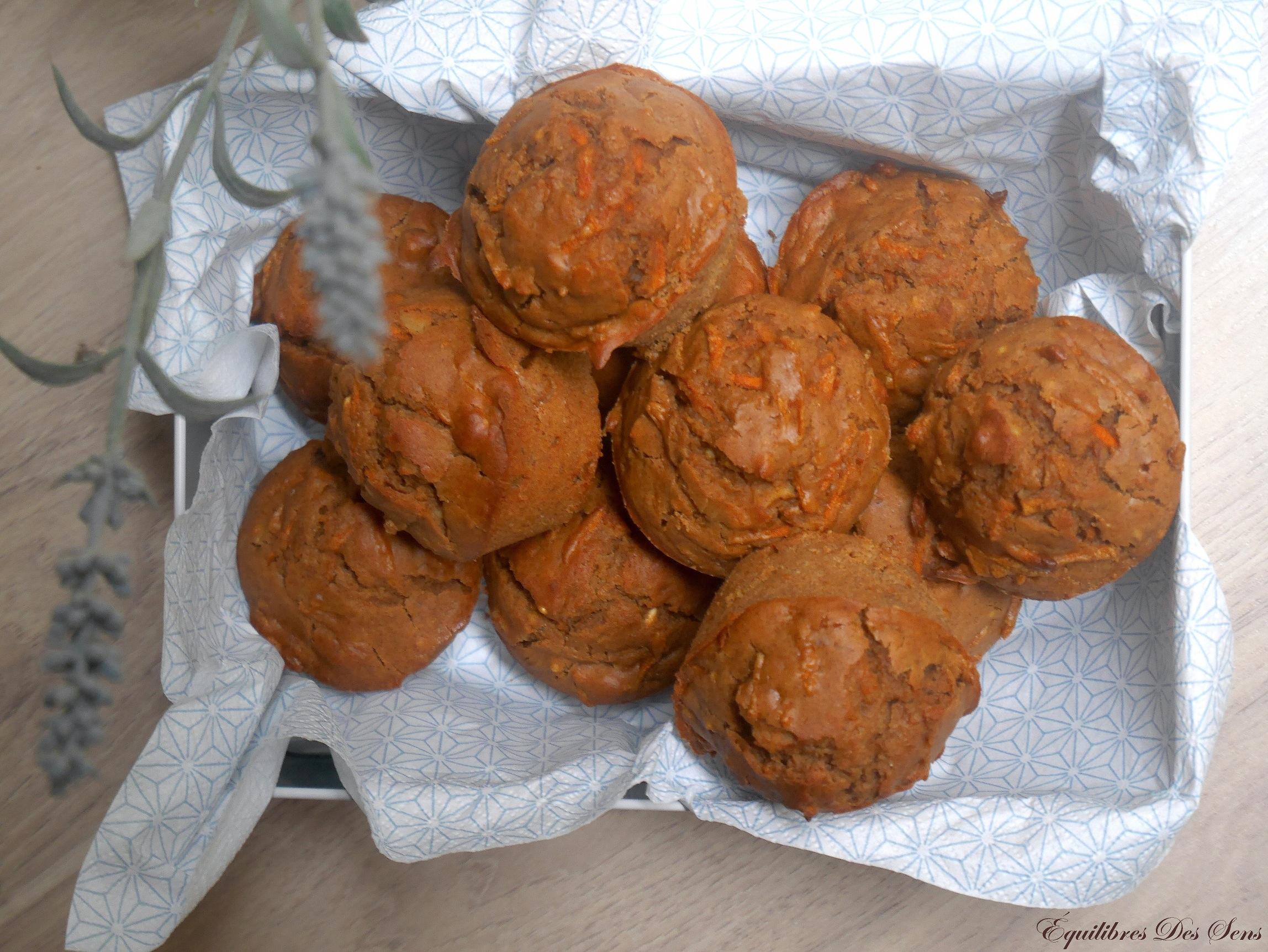 Des muffins carottes-cannelle-noix légers et savoureux !