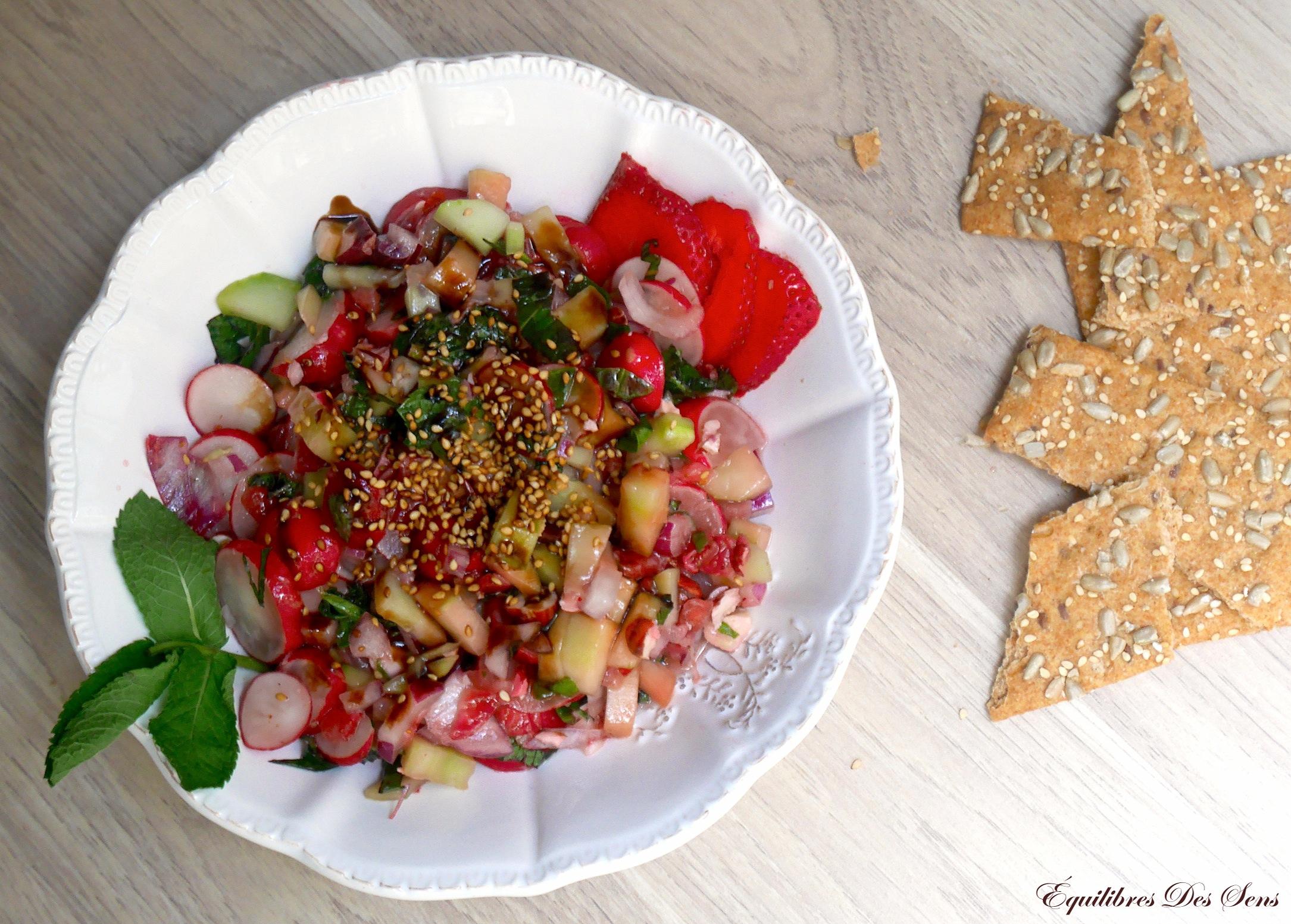 Craquez pour cette salade printanière rose & verte tout fraîche et très croquante !