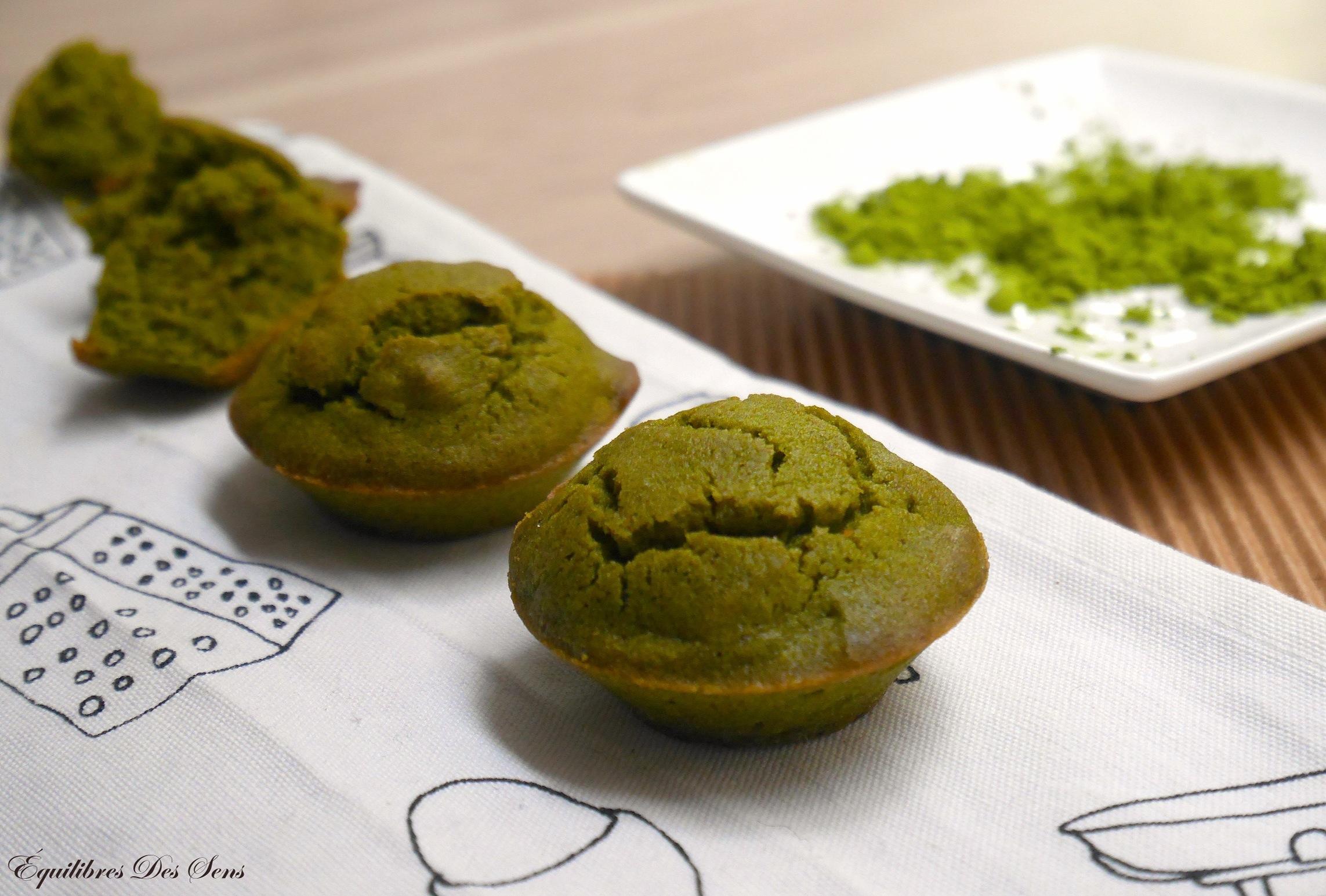 Délicieux petits cakes au thé matcha ! A tester ;-)