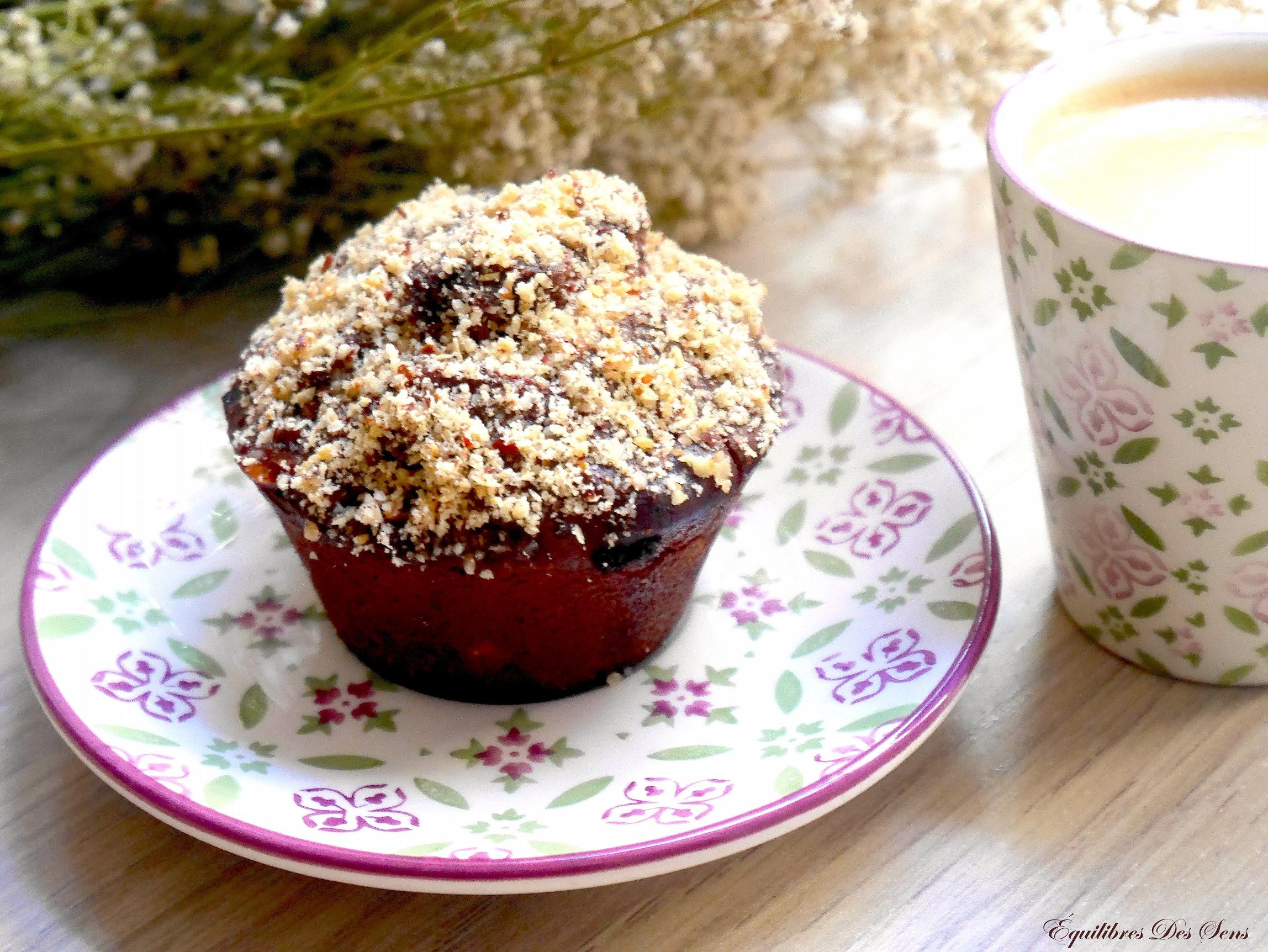 Version vegan et sans gluten des muffins chocolat-sarrasin ! Originale et savoureuse :-)