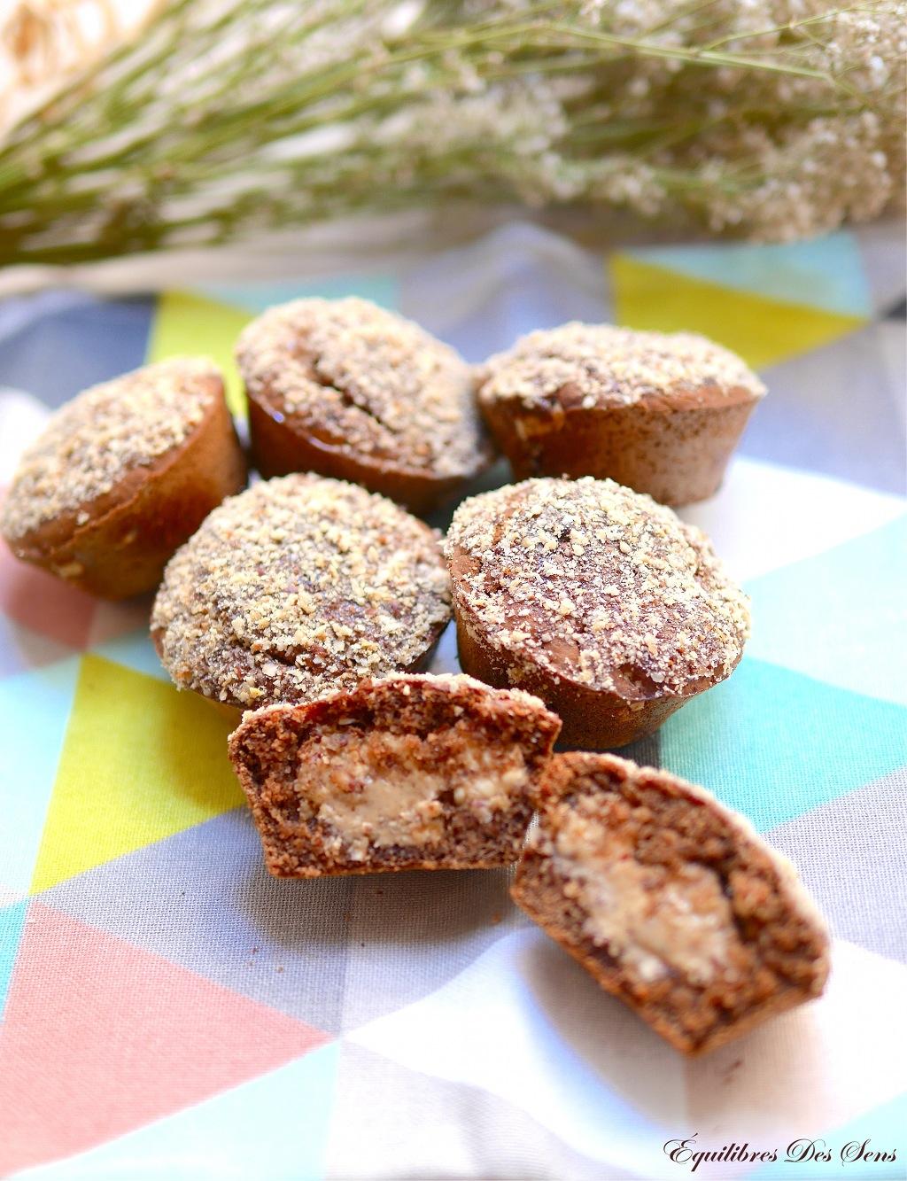 Un goûter sain et très gourmand avec ces muffins au beurre de cacahuète vegan et sans gluten ;-)