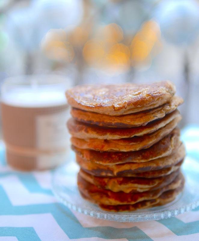 Délicieux pancakes moelleux à la patate douce pour l'apéritif ou le brunch du dimanche !