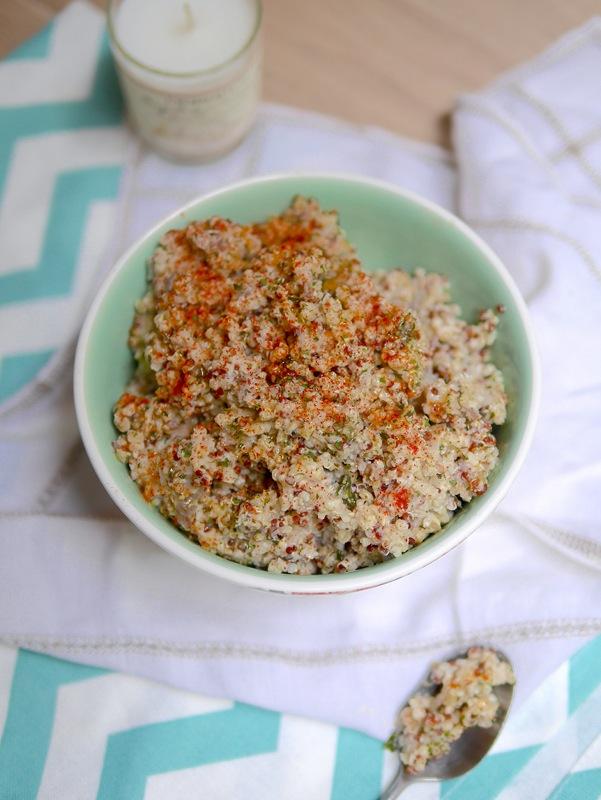 Quinoa crémeux aux girolles vegan et sans gluten pour le plus grand plaisir des gourmands attentifs à leur santé !