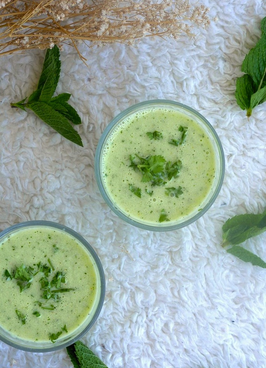 Gaspacho concombre menthe ! Une recette fraîche et vitaminée idéale pour les chaleurs estivales !