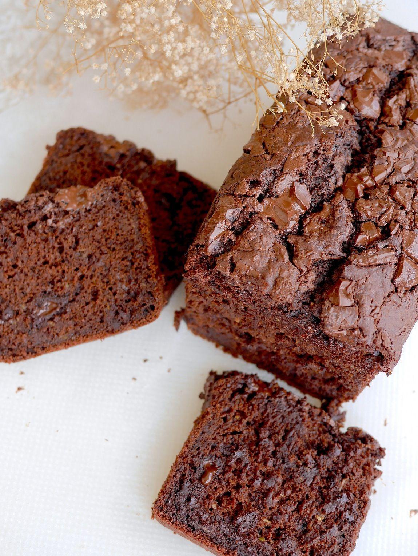 Cake moelleux au chocolat et à la courgette vegan et sans gluten !